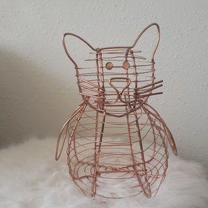 🐱Copper Cat Basket (Cat Decor)🐱